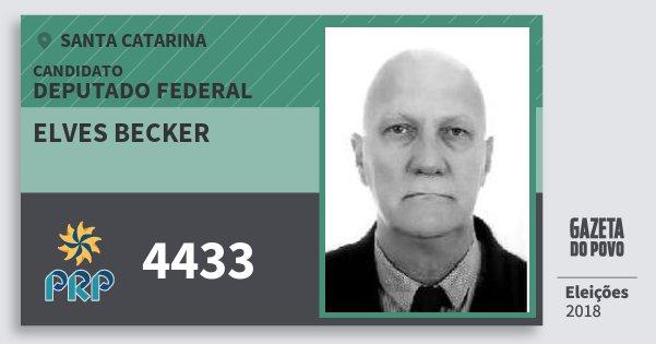 Santinho Elves Becker 4433 (PRP) Deputado Federal | Santa Catarina | Eleições 2018