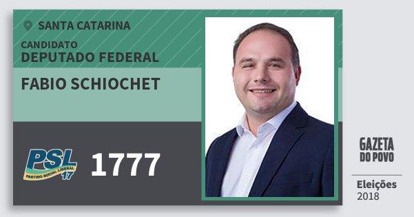 Santinho Fabio Schiochet 1777 (PSL) Deputado Federal | Santa Catarina | Eleições 2018