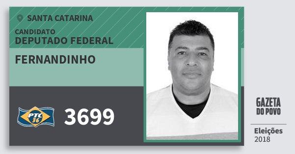 Santinho Fernandinho 3699 (PTC) Deputado Federal | Santa Catarina | Eleições 2018