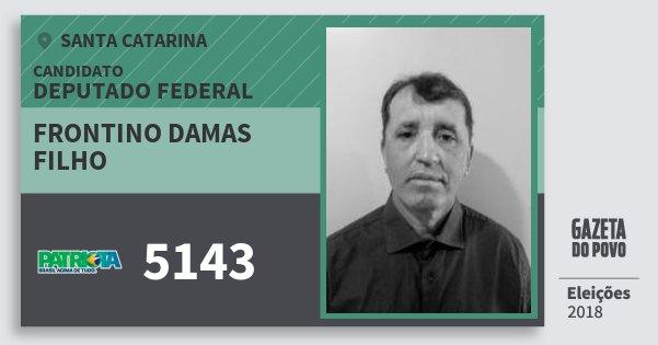 Santinho Frontino Damas Filho 5143 (PATRI) Deputado Federal | Santa Catarina | Eleições 2018