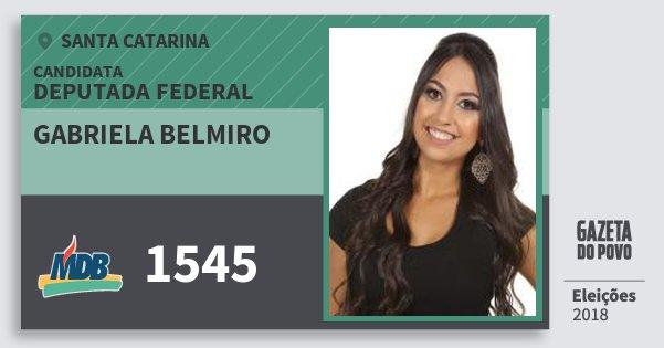 Santinho Gabriela Belmiro 1545 (MDB) Deputada Federal | Santa Catarina | Eleições 2018