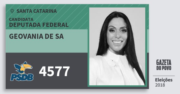 Santinho Geovania de Sa 4577 (PSDB) Deputada Federal | Santa Catarina | Eleições 2018