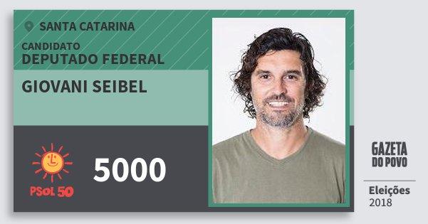 Santinho Giovani Seibel 5000 (PSOL) Deputado Federal | Santa Catarina | Eleições 2018