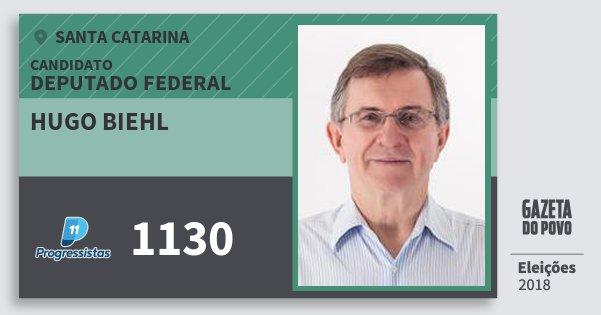 Santinho Hugo Biehl 1130 (PP) Deputado Federal | Santa Catarina | Eleições 2018