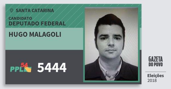 Santinho Hugo Malagoli 5444 (PPL) Deputado Federal | Santa Catarina | Eleições 2018