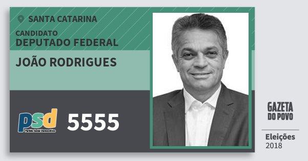 Santinho João Rodrigues 5555 (PSD) Deputado Federal | Santa Catarina | Eleições 2018