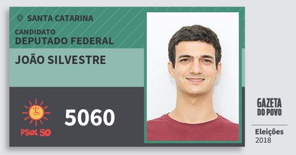 Santinho João Silvestre 5060 (PSOL) Deputado Federal | Santa Catarina | Eleições 2018
