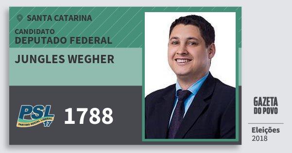 Santinho Jungles Wegher 1788 (PSL) Deputado Federal | Santa Catarina | Eleições 2018