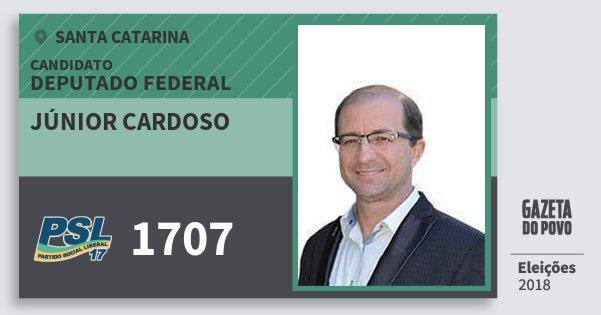 Santinho Júnior Cardoso 1707 (PSL) Deputado Federal   Santa Catarina   Eleições 2018