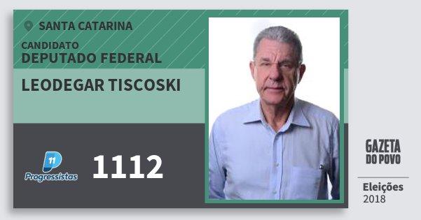 Santinho Leodegar Tiscoski 1112 (PP) Deputado Federal | Santa Catarina | Eleições 2018