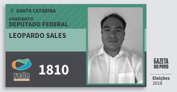 Santinho Leopardo Sales 1810 (REDE) Deputado Federal | Santa Catarina | Eleições 2018