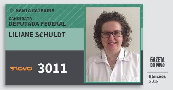 Santinho Liliane Schuldt 3011 (NOVO) Deputada Federal | Santa Catarina | Eleições 2018