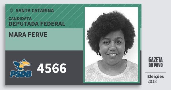Santinho Mara Ferve 4566 (PSDB) Deputada Federal   Santa Catarina   Eleições 2018