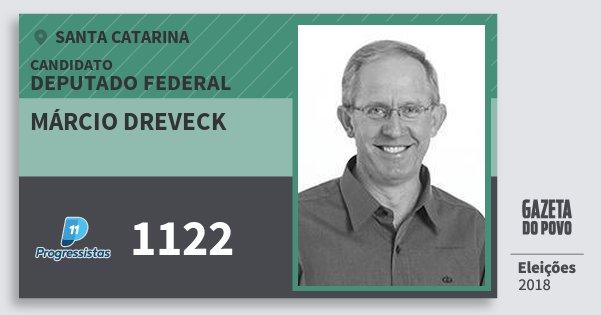 Santinho Márcio Dreveck 1122 (PP) Deputado Federal | Santa Catarina | Eleições 2018