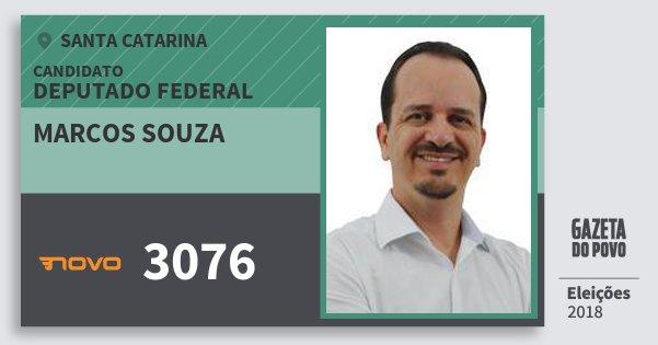 Santinho Marcos Souza 3076 (NOVO) Deputado Federal | Santa Catarina | Eleições 2018