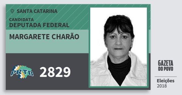 Santinho Margarete Charão 2829 (PRTB) Deputada Federal | Santa Catarina | Eleições 2018