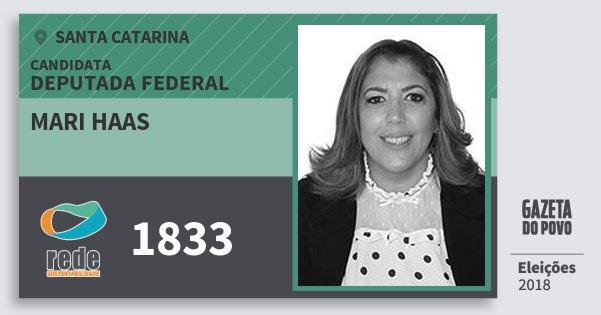 Santinho Mari Haas 1833 (REDE) Deputada Federal | Santa Catarina | Eleições 2018