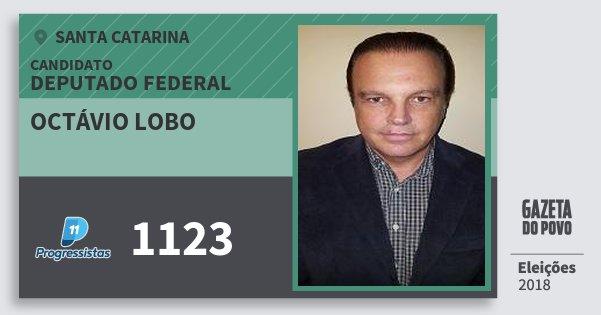 Santinho Octávio Lobo 1123 (PP) Deputado Federal | Santa Catarina | Eleições 2018