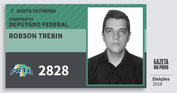 Santinho Robson Trebin 2828 (PRTB) Deputado Federal | Santa Catarina | Eleições 2018