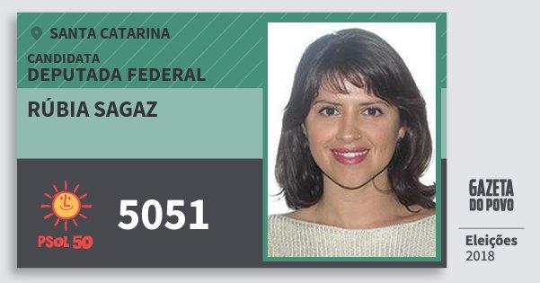 Santinho Rúbia Sagaz 5051 (PSOL) Deputada Federal | Santa Catarina | Eleições 2018