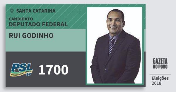 Santinho Rui Godinho 1700 (PSL) Deputado Federal | Santa Catarina | Eleições 2018