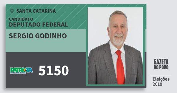 Santinho Sergio Godinho 5150 (PATRI) Deputado Federal | Santa Catarina | Eleições 2018