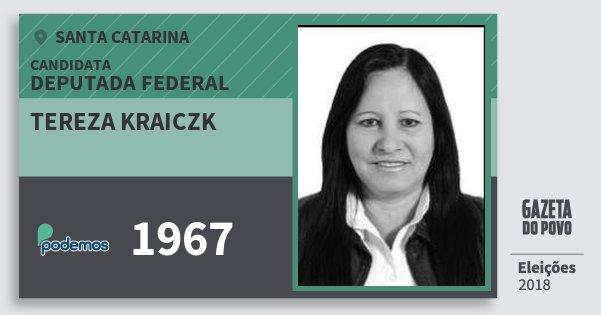 Santinho Tereza Kraiczk 1967 (PODE) Deputada Federal | Santa Catarina | Eleições 2018