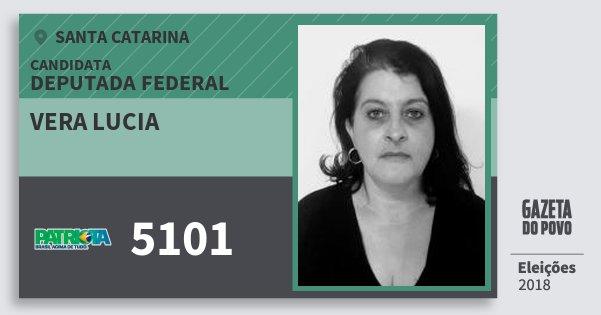 Santinho Vera Lucia 5101 (PATRI) Deputada Federal   Santa Catarina   Eleições 2018
