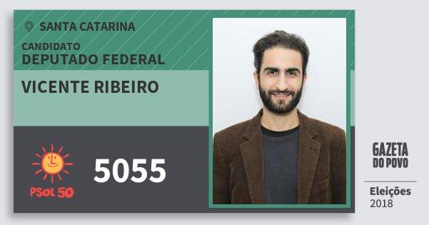 Santinho Vicente Ribeiro 5055 (PSOL) Deputado Federal | Santa Catarina | Eleições 2018