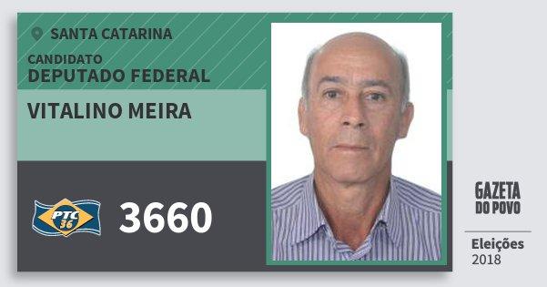 Santinho Vitalino Meira 3660 (PTC) Deputado Federal   Santa Catarina   Eleições 2018