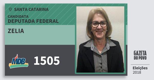 Santinho Zelia 1505 (MDB) Deputada Federal | Santa Catarina | Eleições 2018