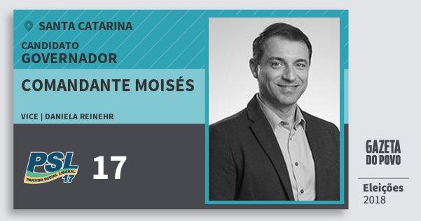 Santinho Comandante Moisés 17 (PSL) Governador | Santa Catarina | Eleições 2018