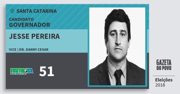 Santinho Jesse Pereira 51 (PATRI) Governador | Santa Catarina | Eleições 2018