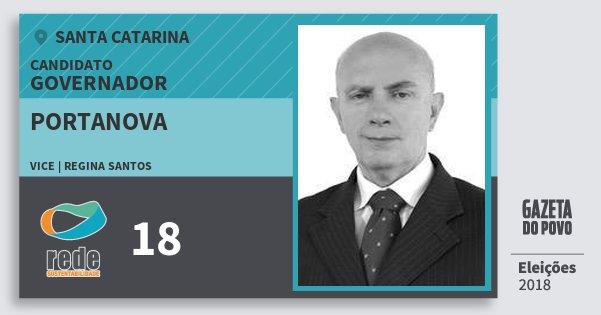 Santinho Portanova 18 (REDE) Governador | Santa Catarina | Eleições 2018