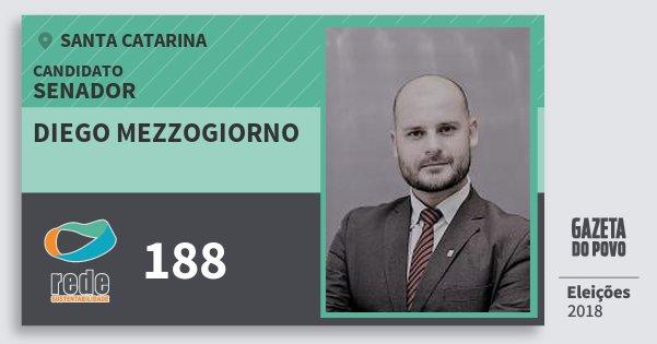 Santinho Diego Mezzogiorno 188 (REDE) Senador | Santa Catarina | Eleições 2018