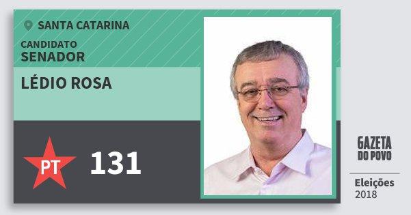 Santinho Lédio Rosa 131 (PT) Senador | Santa Catarina | Eleições 2018