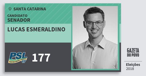 Santinho Lucas Esmeraldino 177 (PSL) Senador | Santa Catarina | Eleições 2018
