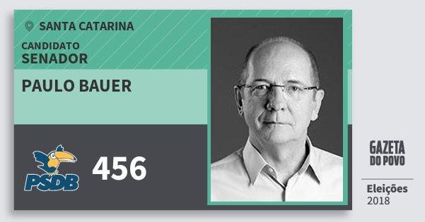Santinho Paulo Bauer 456 (PSDB) Senador | Santa Catarina | Eleições 2018
