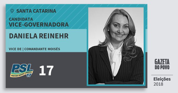 Santinho Daniela Reinehr 17 (PSL) Vice-Governadora | Santa Catarina | Eleições 2018