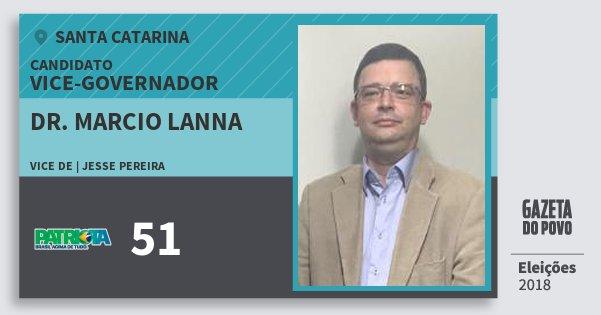 Santinho Dr. Marcio Lanna 51 (PATRI) Vice-governador | Santa Catarina | Eleições 2018