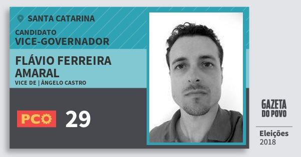 Santinho Flávio Ferreira Amaral 29 (PCO) Vice-governador | Santa Catarina | Eleições 2018
