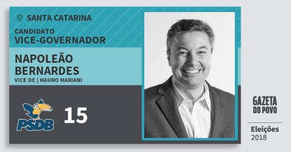 Santinho Napoleão Bernardes 15 (PSDB) Vice-governador | Santa Catarina | Eleições 2018