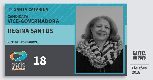 Santinho Regina Santos 18 (REDE) Vice-Governadora | Santa Catarina | Eleições 2018