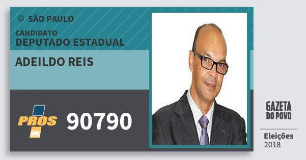 Santinho Adeildo Reis 90790 (PROS) Deputado Estadual   São Paulo   Eleições 2018