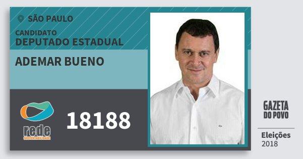 Santinho Ademar Bueno 18188 (REDE) Deputado Estadual | São Paulo | Eleições 2018