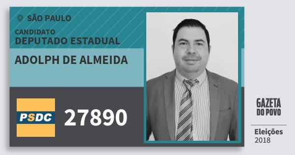 Santinho Adolph de Almeida 27890 (DC) Deputado Estadual   São Paulo   Eleições 2018