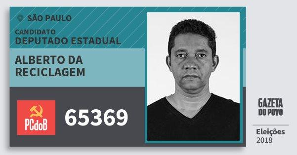 Santinho Alberto da Reciclagem 65369 (PC do B) Deputado Estadual | São Paulo | Eleições 2018