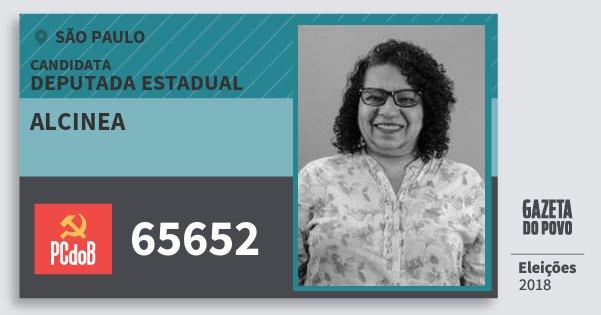 Santinho Alcinea 65652 (PC do B) Deputada Estadual | São Paulo | Eleições 2018