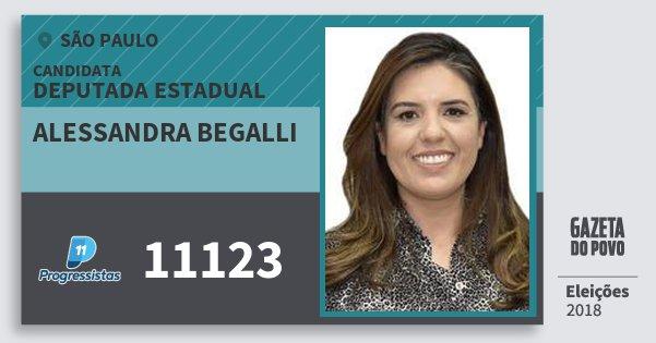 Santinho Alessandra Begalli 11123 (PP) Deputada Estadual | São Paulo | Eleições 2018