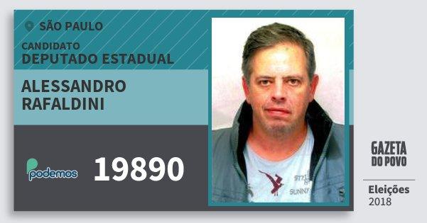 Santinho Alessandro Rafaldini 19890 (PODE) Deputado Estadual | São Paulo | Eleições 2018